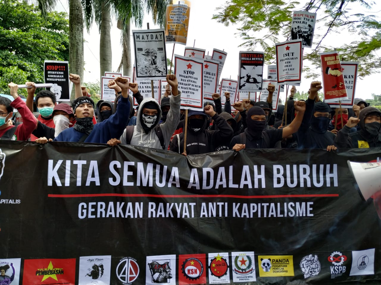 Pres Rilis : Koalisi Masyarakat SIPIL Kota Bandung Kecam Tindakan Aparat Keamanan  (Polri dan TNI) dalam Aksi May Day Bandung 2019