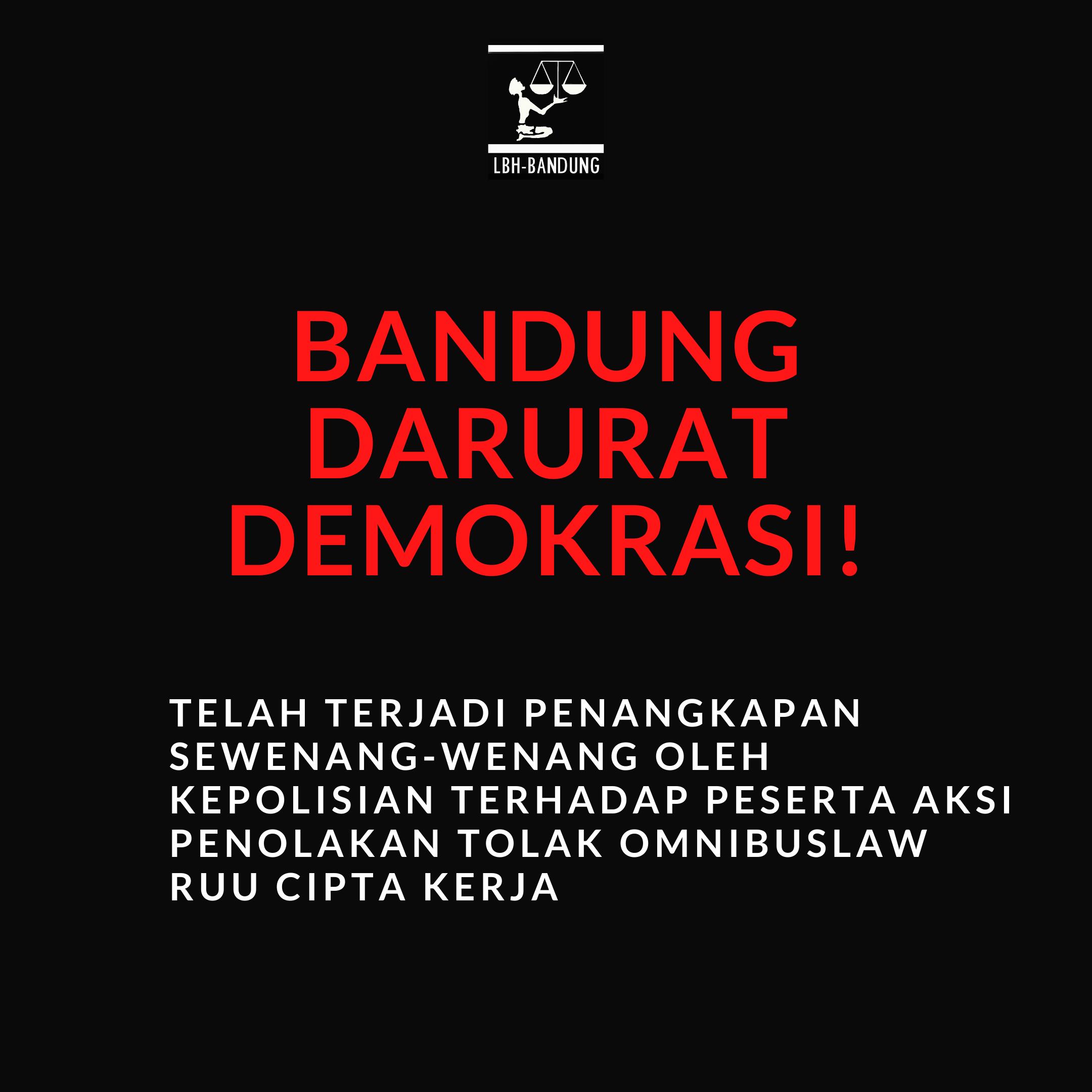 Aksi Penolakan Omnibus Law Bandung Direpresi.